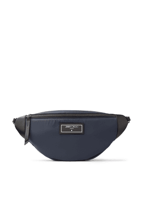 KIRT Navy Calf Leather Body Bag with Studs