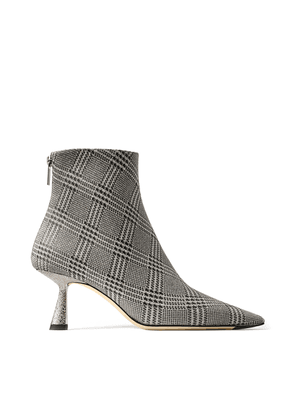 KIX 65 Silver Prince of Stars Glitter Pointed Toe Booties