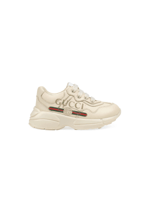 Toddler Rhyton Gucci logo leather sneaker