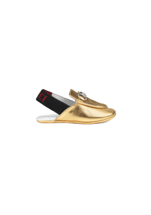 Baby Princetown metallic leather slipper