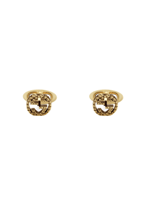 Yellow gold Interlocking G cufflinks