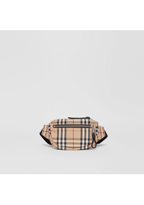 Burberry Small Vintage Check Cannon Bum Bag, Beige