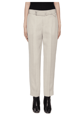 Belted cropped suiting pants