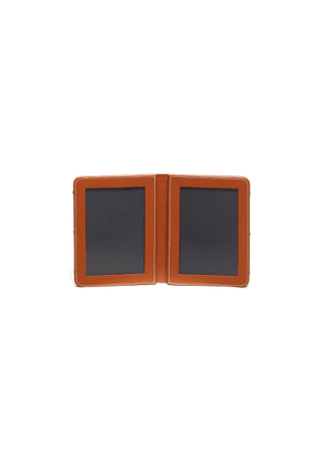 Leather double photograph frame