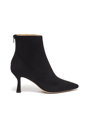 'Como' suede panel snake-embossed leather ankle boots