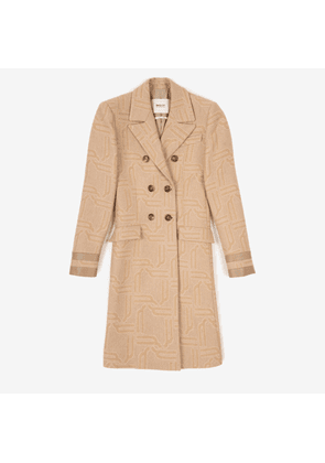 Double-Breasted Jacquard Coat