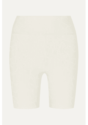 TWENTY Montréal - Roaming Giraffe 3d Stretch Jacquard-knit Shorts - Cream