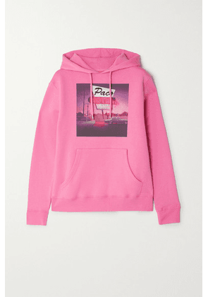 Paco Rabanne - Printed Cotton-jersey Hoodie - Pink