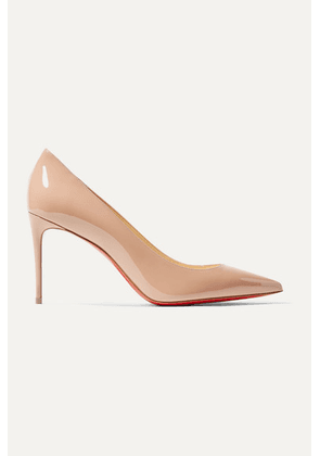 Christian Louboutin - Kate 85 Patent-leather Pumps - Beige