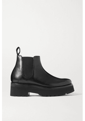 Grenson - Naomi Leather Platform Chelsea Boots - Black