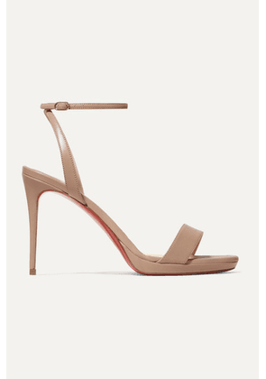 Christian Louboutin - Loubi Queen 100 Leather Sandals - Beige