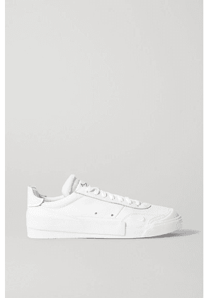 Nike - Drop-type Mesh And Rubber-trimmed Leather Sneakers - White