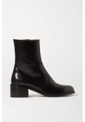 BY FAR - Lara Leather Ankle Boots - Black