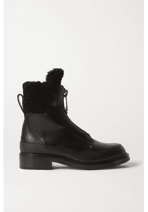 Chloé - Roy Shearling-lined Leather Ankle Boots - Black