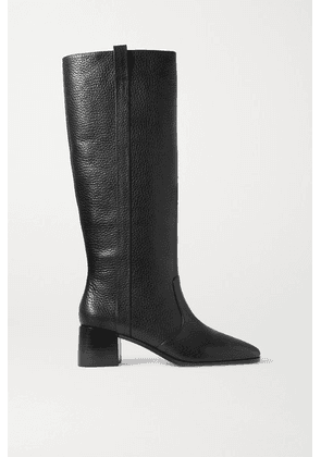 Loeffler Randall - Ryan Textured-leather Knee Boots - Black