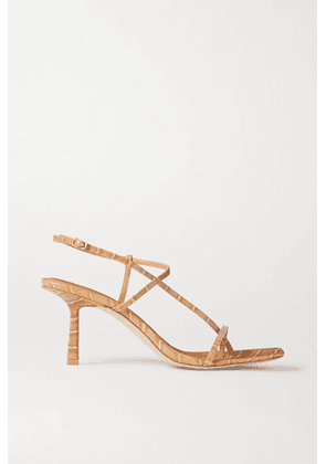STUDIO AMELIA - 2.5 Croc-effect Vegan Leather Sandals - Neutral