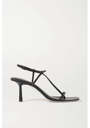 STUDIO AMELIA - 2.5 Leather Sandals - Black