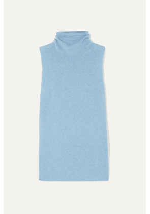 The Row - Leona Wool And Cashmere-blend Turtleneck Sweater - Blue