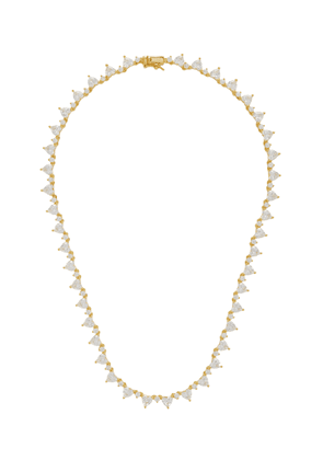 FALLON Silver-Tone Crystal Necklace