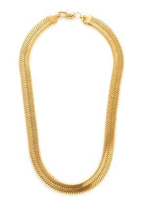 FALLON Gold-Tone Brass Collar Necklace
