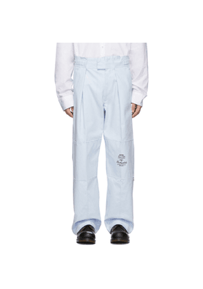 Raf Simons Blue Wide Fit Trousers