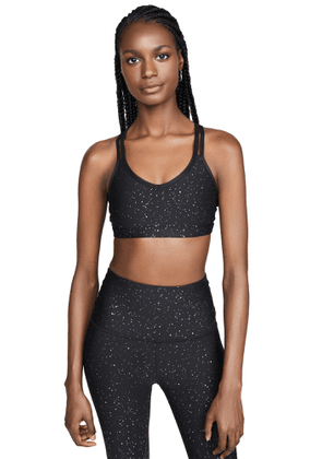 Beyond Yoga Double Back Alloy Speckled Bra