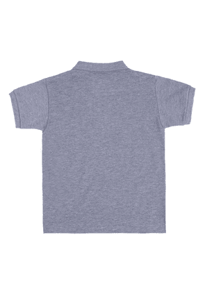 Comme Des Garcons Play Kids Heart-patched Polo Unisex Grey