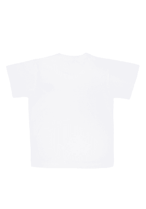 Comme Des Garcons Play Kids Patched T-shirt Unisex White