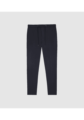 Reiss Flexo - Slim Fit Jersey-stretch Trousers in Navy, Mens, Size 28