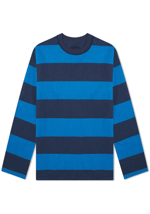 Blue Blue Japan Bold Stripe Crew Sweat