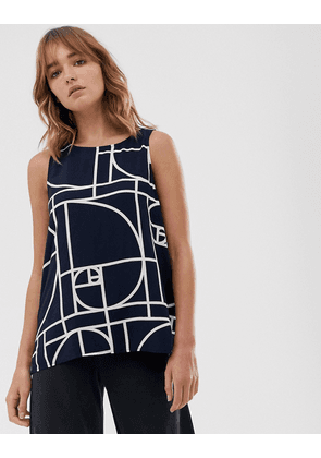 Weekday tank top in graphic print-Multi
