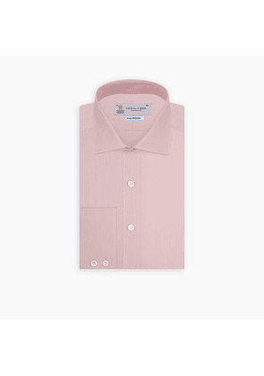 Tailored Fit Pink End-on-End Cotton Shirt with Kent Collar and.