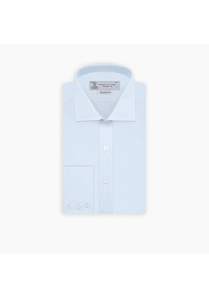 Tailored Fit Two-Fold 120 Light Blue Shirt with Kent Collar and.