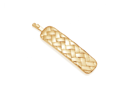 Lucy Williams Gold Waffle Hair Clip - Gold Plated Brass