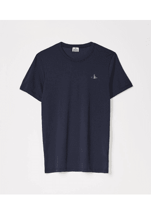 Solid Coloured Mercerised Jersey Navy