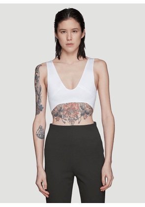 Atlein Constructed Cropped Top in White size FR - 38