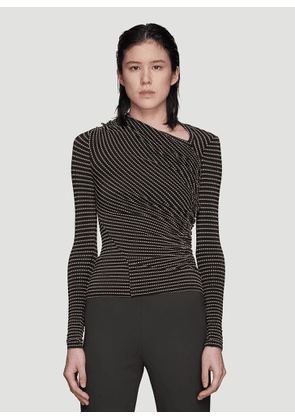 Atlein Jacquard Point Top in Black size FR - 38
