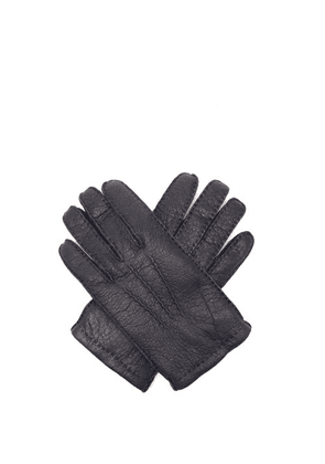 Dents - Hampton Peccary-leather Gloves - Mens - Navy