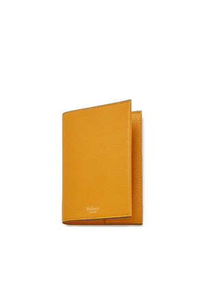 Mulberry Passport Cover in Deep Amber Small Classic Grain