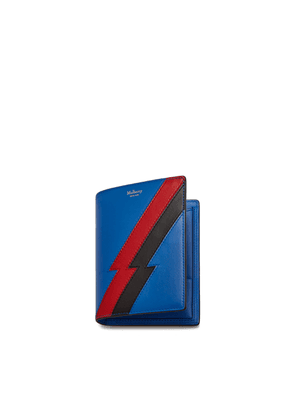 Mulberry Passport Wallet in Porcelain Blue and Scarlet