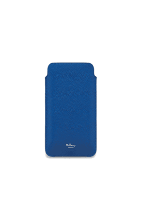 Mulberry iPhone Plus Cover in Porcelain Blue Small Classic Grain