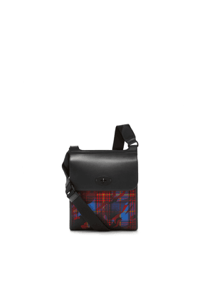 Mulberry Antony in Blue, Red and Yellow Camo Check ECONYL