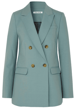 Elizabeth And James Sterling Double-breasted Woven Blazer Woman Teal Size 2