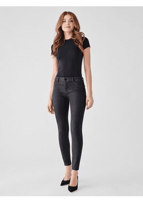 DL1961 Florence Ankle Mid-Rise Skinny Jeans - Pewter
