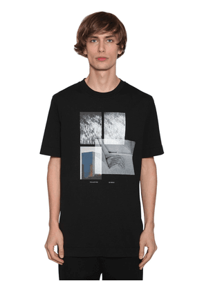 Recycled Print Cotton Jersey T-shirt