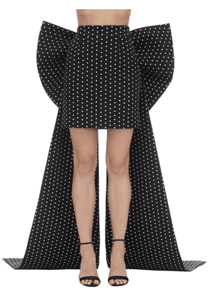 Polka Dot Satin Skirt W/ Bows