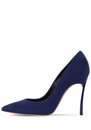 100mm Blade Suede Pumps