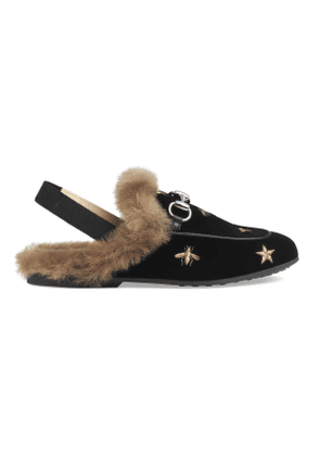 Children's Princetown bees and stars slipper