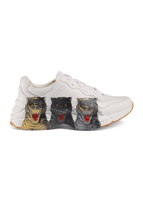 Men's Rhyton leather sneaker with tigers