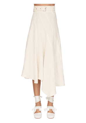 Asymmetric Linen Canvas Skirt